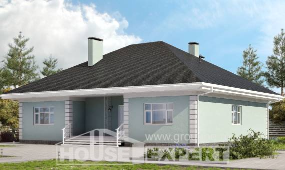 135-003-L One Story House Plans, compact Home Blueprints, House Expert