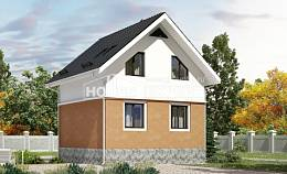 100-005-L Two Story House Plans with mansard roof, small Plan Online