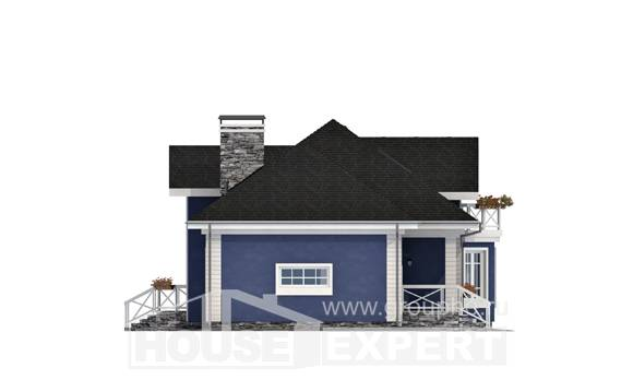 180-010-L Two Story House Plans and mansard and garage, classic Tiny House Plans,