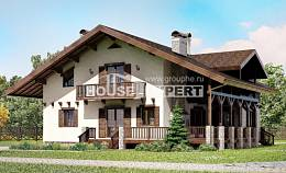 250-003-R Two Story House Plans with mansard, best house Blueprints, House Expert