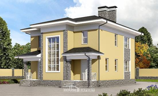 155-011-L Two Story House Plans, cozy Woodhouses Plans,