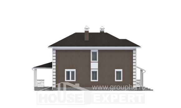 185-002-R Two Story House Plans, beautiful Woodhouses Plans,