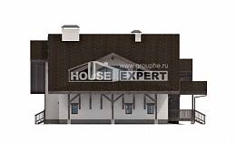 320-001-R Two Story House Plans and mansard with garage, best house Architect Plans,