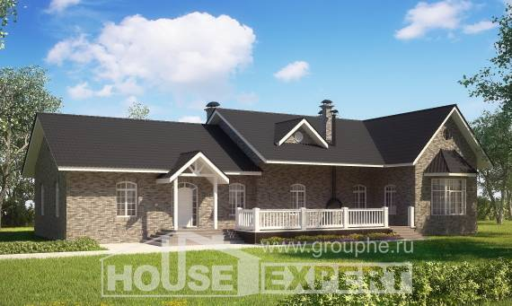 195-001-R One Story House Plans, classic Home Plans,