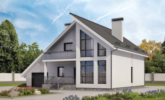 200-007-L Two Story House Plans with mansard roof with garage, spacious Home Plans, House Expert
