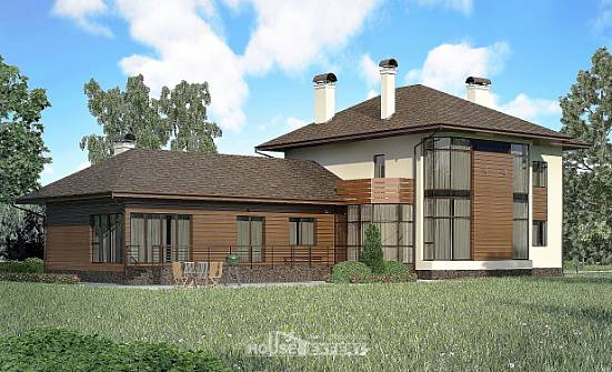 300-001-R Two Story House Plans, a huge Dream Plan,