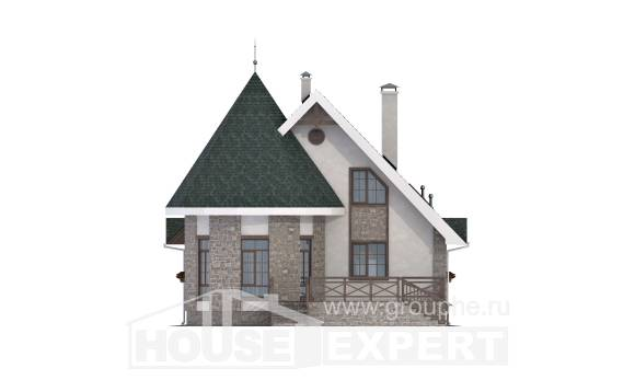 170-003-L Two Story House Plans and mansard, the budget House Plan, House Expert