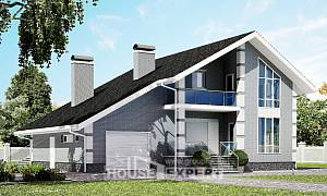 190-006-L Two Story House Plans with mansard roof with garage in back, classic House Blueprints
