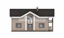 210-003-R Two Story House Plans with mansard roof, cozy Tiny House Plans,