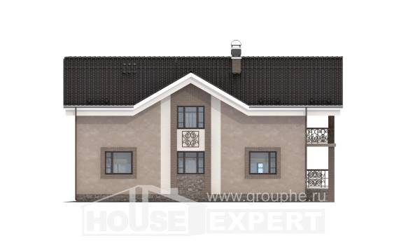 210-003-R Two Story House Plans and mansard, cozy House Blueprints,