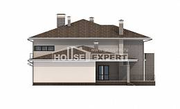 500-001-R Three Story House Plans with garage in back, beautiful Timber Frame Houses Plans,