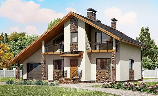 180-008-L Two Story House Plans and mansard with garage in back, spacious House Online,