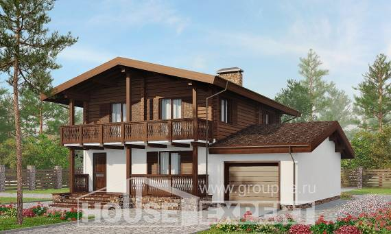 200-011-R Two Story House Plans with mansard roof, spacious Cottages Plans, House Expert