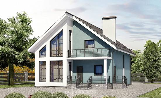 170-006-R Two Story House Plans with mansard, the budget Architectural Plans, House Expert