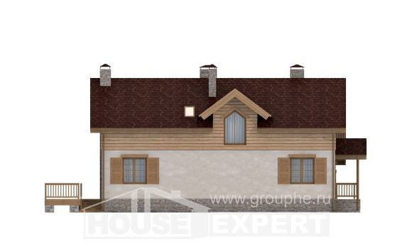 165-002-R Two Story House Plans with garage, the budget Building Plan,
