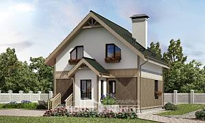 105-001-L Two Story House Plans and mansard, modern Planning And Design