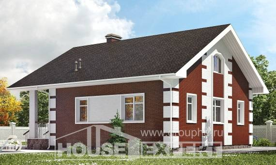 115-001-R Two Story House Plans and mansard, economical Home Plans,