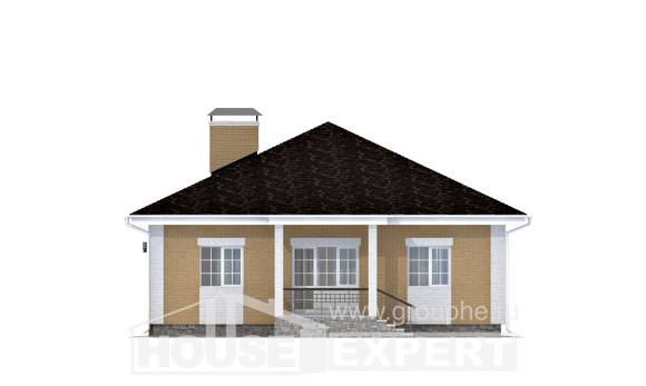 130-002-L One Story House Plans and garage, modest Online Floor