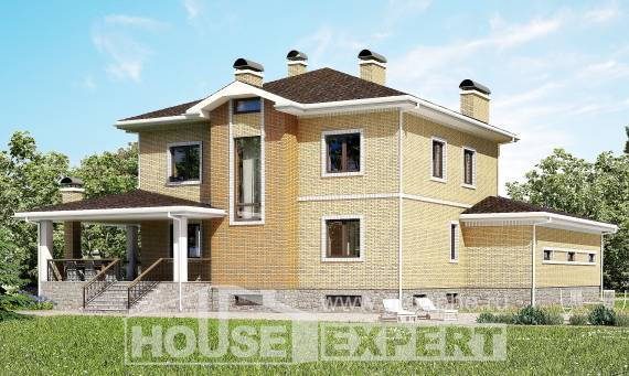 350-002-L Three Story House Plans with garage in back, big Planning And Design, House Expert