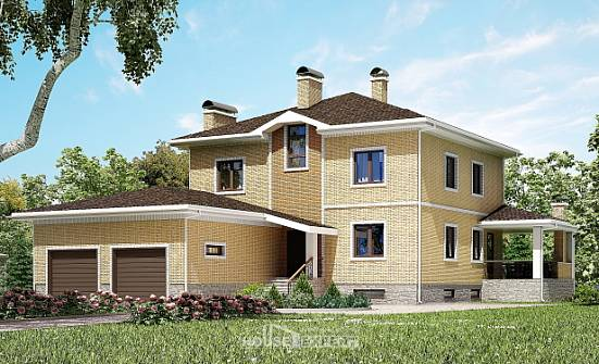 350-002-L Three Story House Plans and garage, luxury Drawing House,