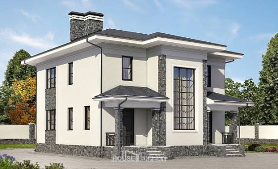 155-011-R Two Story House Plans, modest Building Plan,