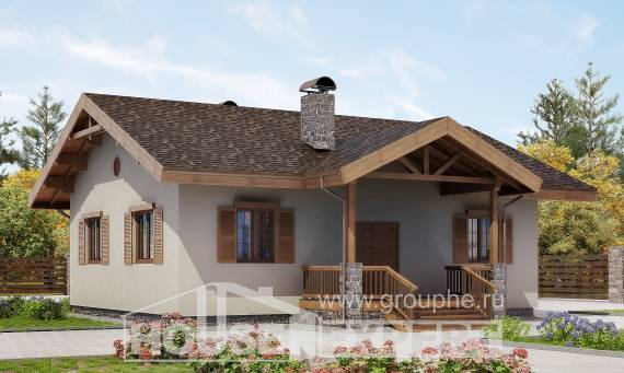 090-002-L One Story House Plans, cozy Design Blueprints, House Expert