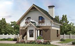 105-001-L Two Story House Plans and mansard, classic Villa Plan,