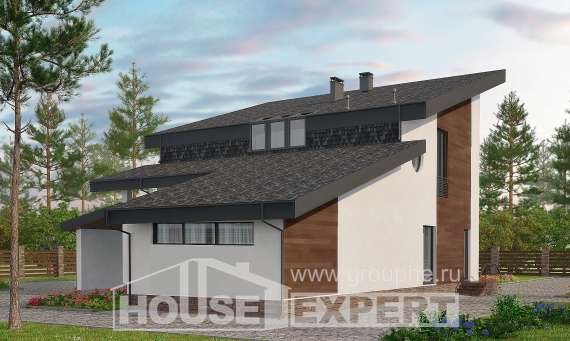 230-001-R Two Story House Plans and mansard, spacious Home Blueprints, House Expert