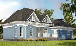 180-007-L Two Story House Plans with mansard roof with garage in back, the budget Planning And Design,