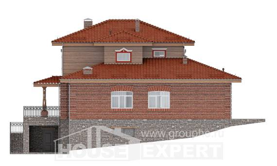 380-002-L Three Story House Plans and garage, spacious Home Plans, House Expert