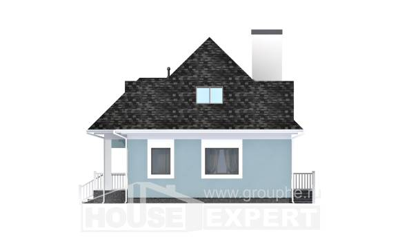 110-001-L Two Story House Plans and mansard, the budget Villa Plan,