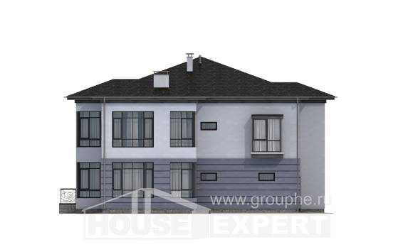 300-006-L Two Story House Plans with garage in back, big Tiny House Plans,