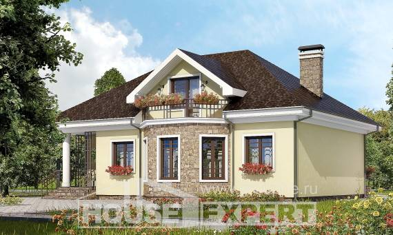 150-008-L Two Story House Plans with mansard roof, economical Ranch,