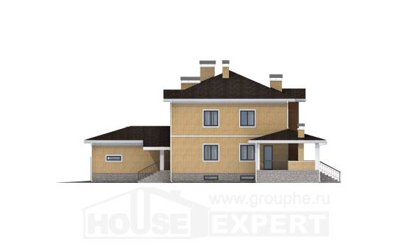 350-002-L Three Story House Plans with garage, a huge Online Floor, House Expert
