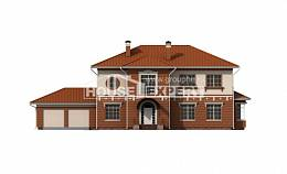 285-001-L Two Story House Plans with garage under, modern Cottages Plans,