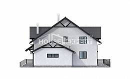 290-003-R Two Story House Plans with mansard with garage in back, beautiful Custom Home Plans Online,