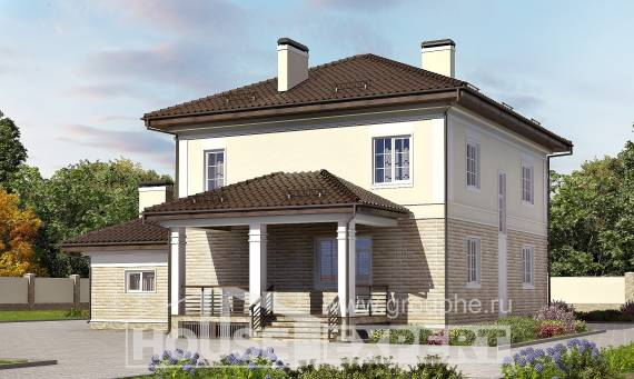 220-007-R Two Story House Plans with garage in front, average Cottages Plans