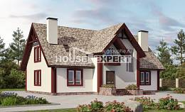 300-008-L Two Story House Plans and mansard with garage under, spacious Home Plans,