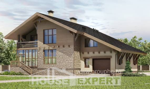 420-001-L Three Story House Plans with mansard roof with garage, cozy House Plans