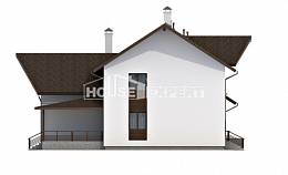 300-002-R Two Story House Plans with mansard with garage in back, classic Drawing House,