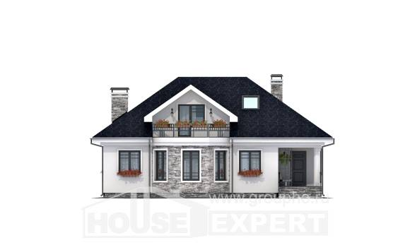 150-008-R Two Story House Plans with mansard, best house Drawing House,