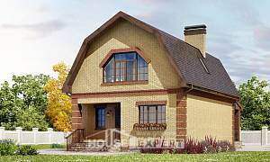 130-005-L Two Story House Plans with mansard, classic House Online