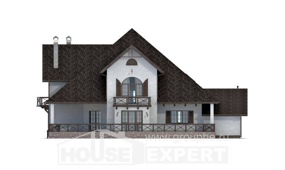 350-001-L Two Story House Plans and mansard and garage, cozy House Plans,