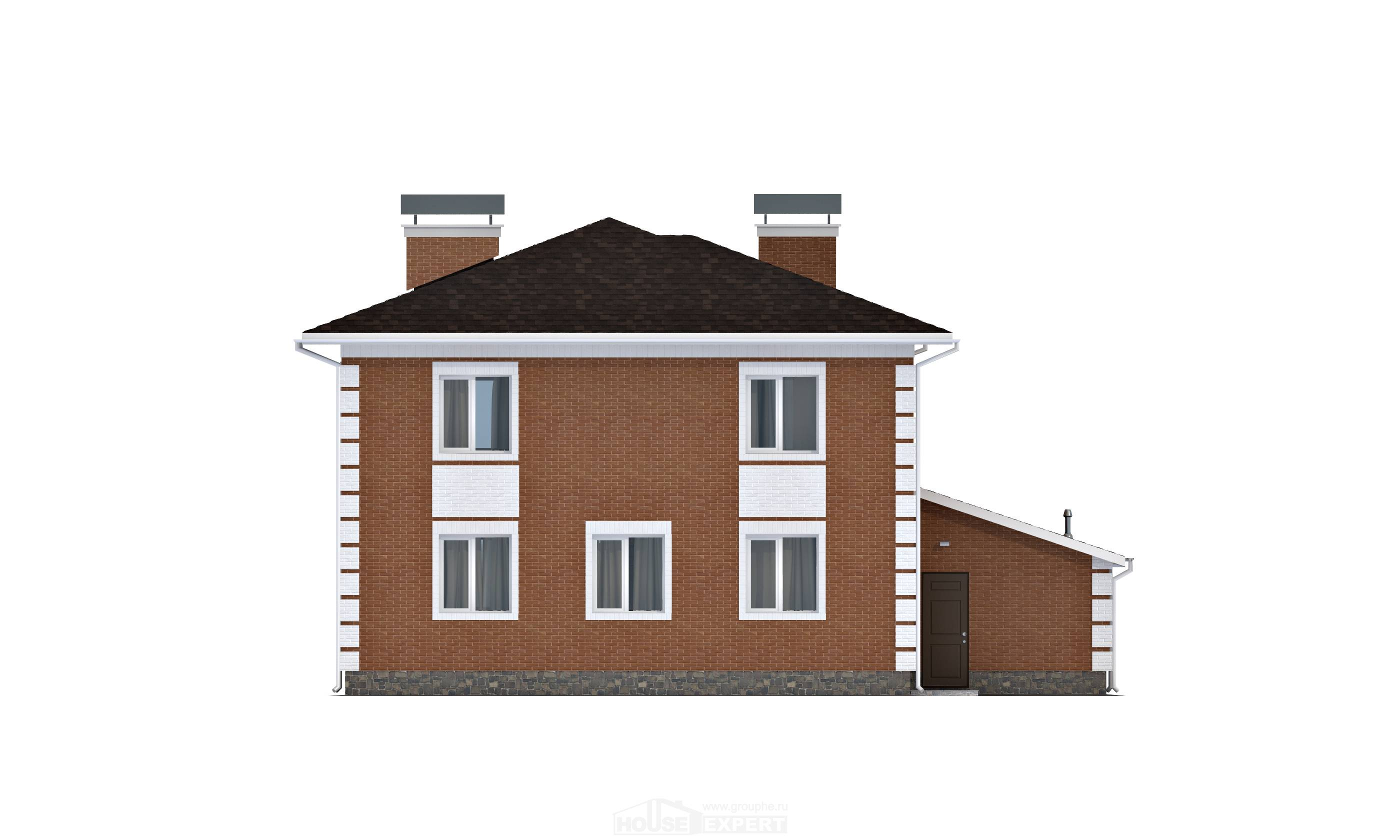 220-004-L Two Story House Plans and garage, average Floor Plan,