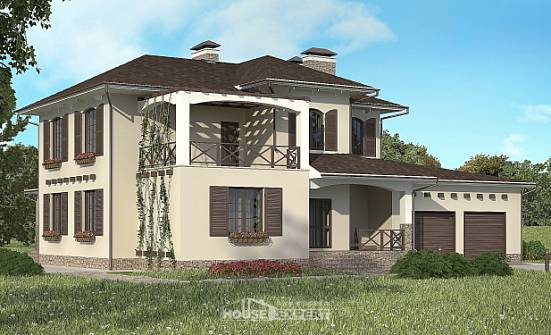 285-002-R Two Story House Plans with garage under, a huge Floor Plan,