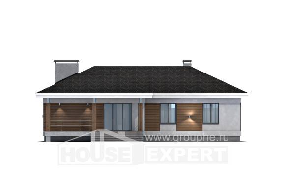 165-001-R One Story House Plans and garage, classic Models Plans