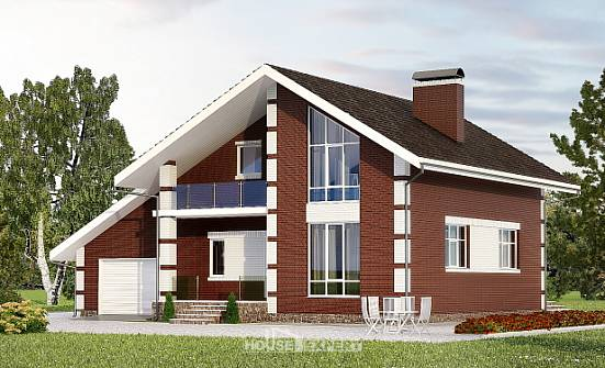 180-001-L Two Story House Plans with mansard and garage, best house Dream Plan, House Expert