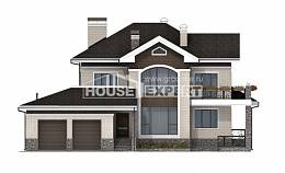 365-001-L Two Story House Plans with garage in back, big Architectural Plans