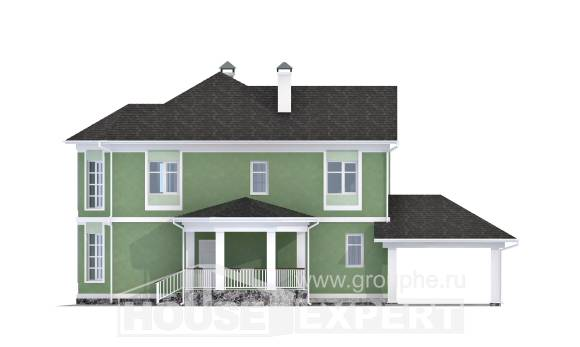 170-001-L Two Story House Plans and garage, small Ranch