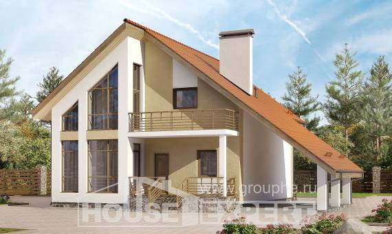 170-009-R Two Story House Plans with mansard roof with garage in back, available Planning And Design